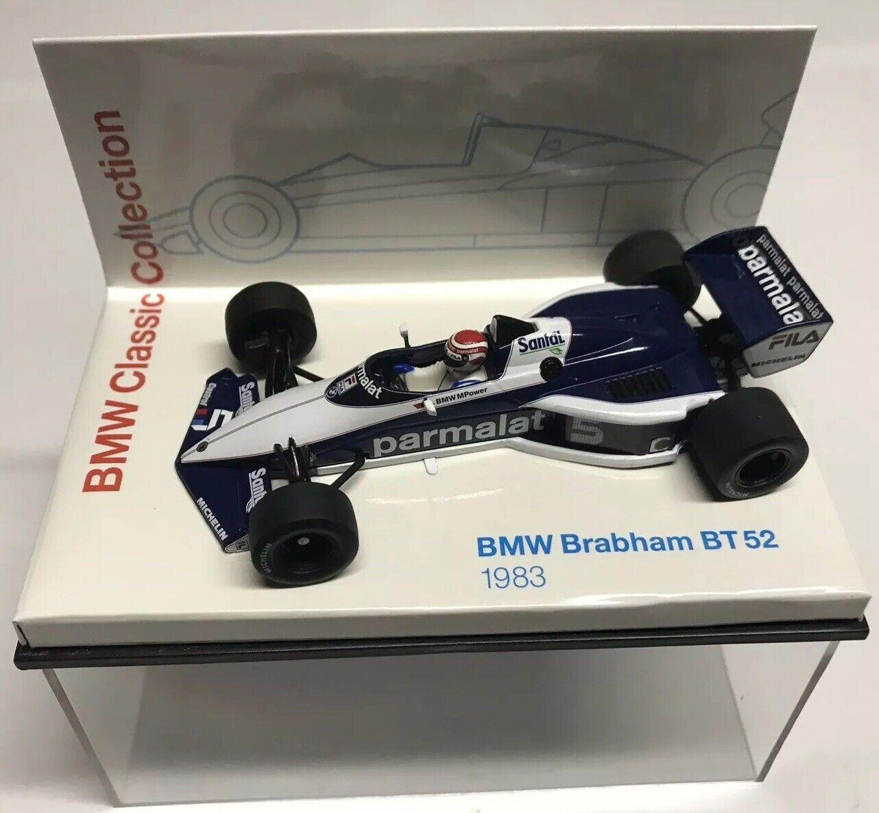 Minichamps 1983 Nelson Piquet de hecho, Parmalat Brabham BMW BT52  5 Grand Prix 1 43 Nuevo en Caja