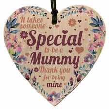 Mothers Day Gifts from Son Daughter Wooden Plaque Heart Sign Novelty for Mum Mom