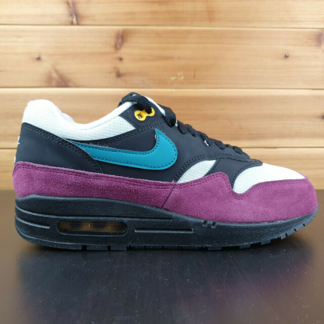 Nike Air Max 1 Black Geode Teal Silver Bordeaux 319986 040 Womens Size  7