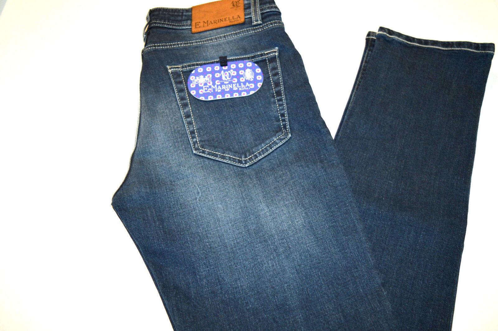 NEW E.MARINELLA 100° Anniversary Jeans Denim Cotton  Elastane Size 35 Us 51 Eu