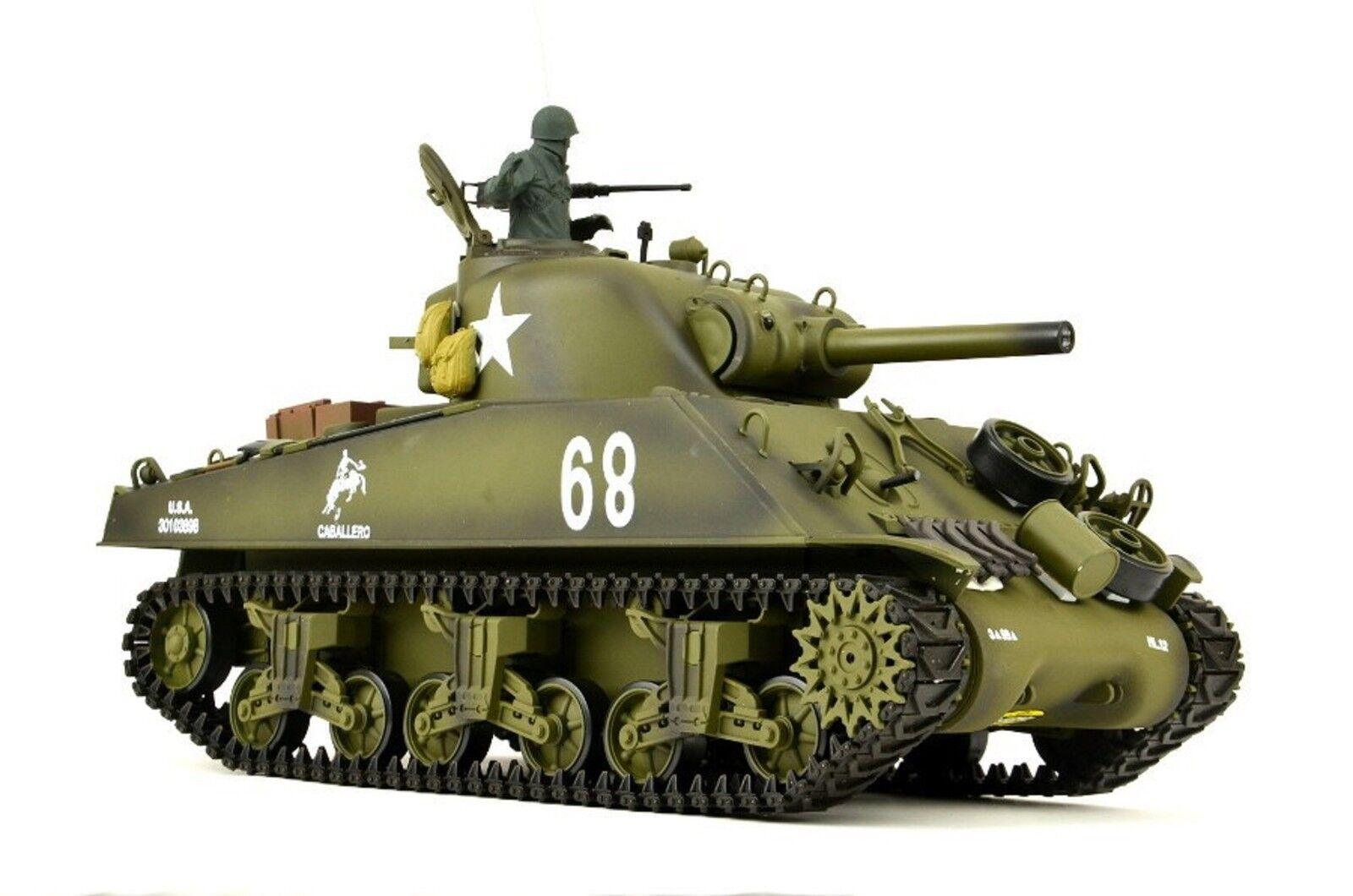 Heng Long RC tanques us m4a3 Sherman Sherman Sherman pro 1 16 con humo y sonido, 2,4ghz c1b5a0