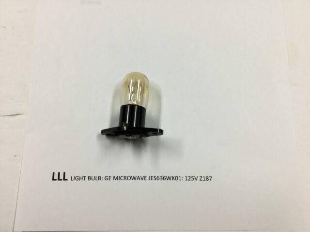 Ge Microwave Jes636wk01 Light Bulb Z187 125v 20w 173112