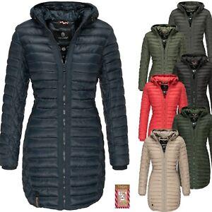 finest selection 1e542 41088 Details zu Navahoo Damen Mantel Jacke Parka Stepp Winter Steppmantel Lang  Outdoor NEU Zea