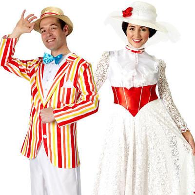 Mary Poppins E Bert Jolly Vacanze Costume Film Disney Adulti Costumi Nuovo-mostra Il Titolo Originale
