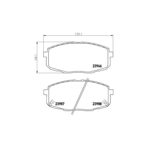 Textar Bremsbeläge vorne Hyundai i30 CW Coupe Kia Ceed Carens 1,4-2,0