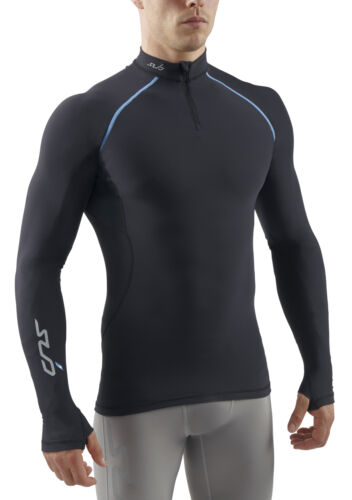 Sub Sports Gel Hiver Homme 1//4 zip manches longues semi-Compression TOP
