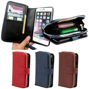 Venecian-Zipper-Wallet-Case-for-Apple-iPhone-X-8-8-Plus-7-6-5-SE-Luna-TG-L800S