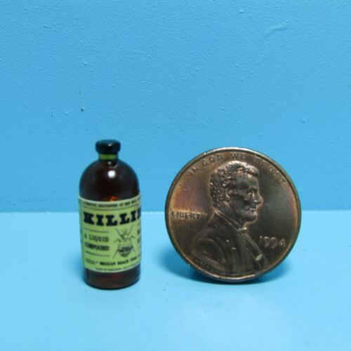 Dollhouse Miniature Replica Bottle of Bug Killer ~ HR57108