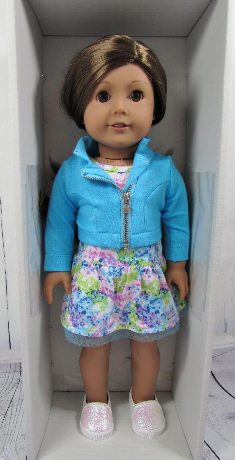Auténtica Muñeca American Girl Marrón Cabello y ojos marróns-Nuevo Y En Caja