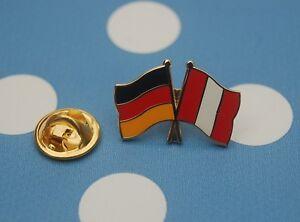 Freundschaftspin-Deutschland-Peru-Pin-Button-Badge-Anstecker-Amerika-Karibik