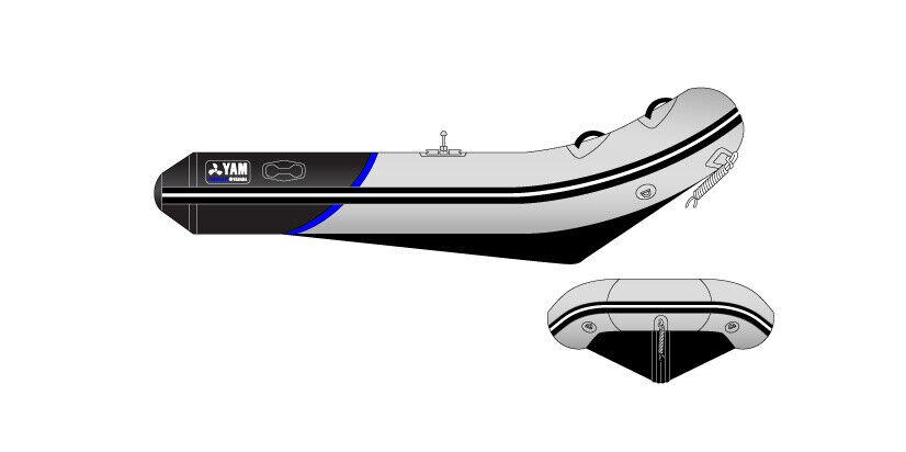 Gummibåd, YAM 340 S med Yamaha 15 HK påhængsmotor