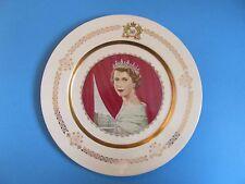 """Queen Elizabeth II 1953 Coronation 10"""" Decorative Plate Allen Hughes Art"""