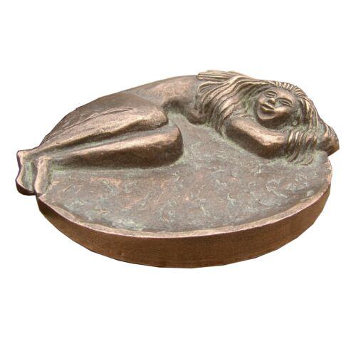 Bronzo Plastica Scultura personaggio sonno alla fine del 15 cm Sculpture Sleeping Woman