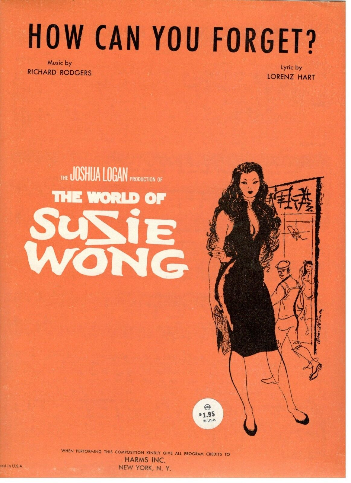 HOW CAN YOU FORGET SHEET MUSIC-THE WORLD OF SUSIE WONG-1938-BRAND NEW ON SALE