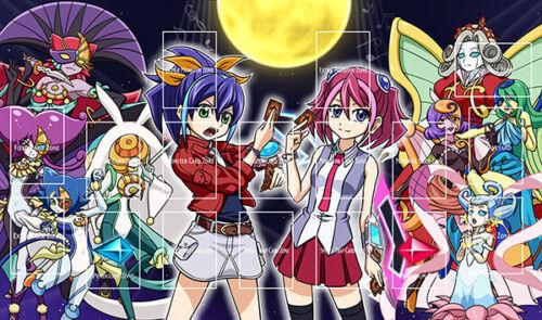 G1870# Yugioh Card Playmat Yuzu Hiragi Serena Lunalight Melodious With Zones