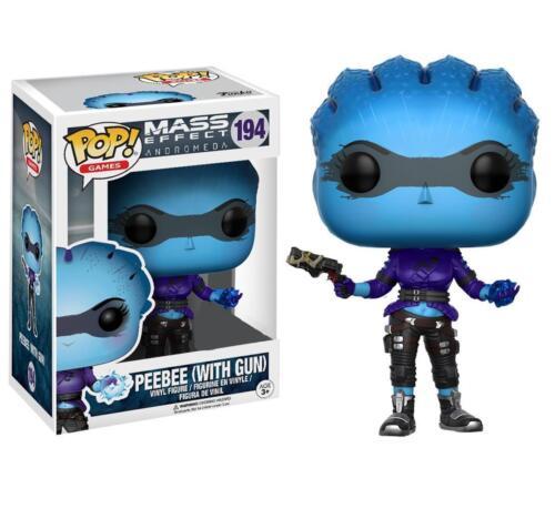 """Exclusive Mass Effect Andromède peebee avec pistolet 3.75/"""" POP Vinyl Figure FUNKO"""
