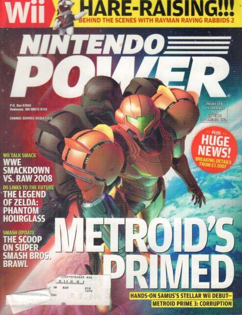 Nintendo Power Magazine Metroid Prime WWE Smackdown September 2007 021318nonr
