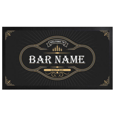 PERSONALISED UNION JACK BEER LABEL BAR RUNNER IDEAL HOME PUB CAFE OCCASION