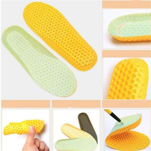 Stretch Breathable Deodorant Shoe Running Cushion Insoles Pad Insert 1 pair