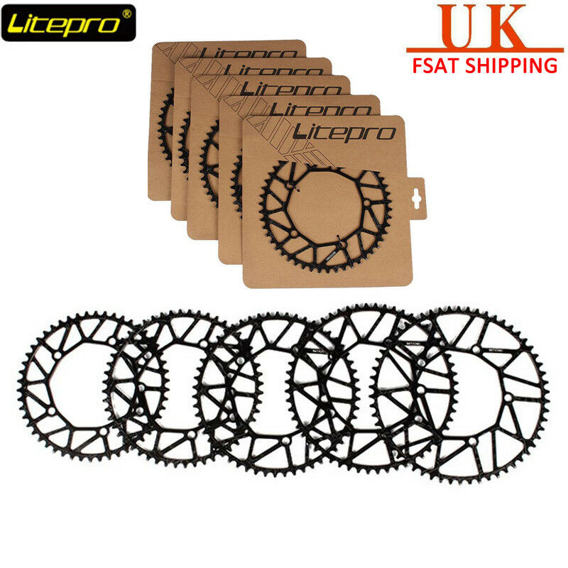 Litepro BCD130mm Hollow Chainring  Narrow Wide Road Folding Bike Chainweel 50-58T  a lot of concessions