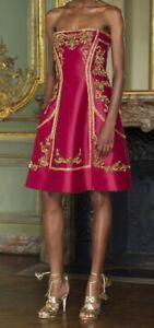 Abiti Da Sera Ferretti.Luxury Alberta Ferretti Abito Da Sera Rosso Oro Chic Embroided