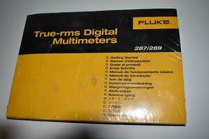 ^^ FLUKE TRU-RMS DIGITAL MULTIMETERS 287/289 MANUAL - NEW (M388)