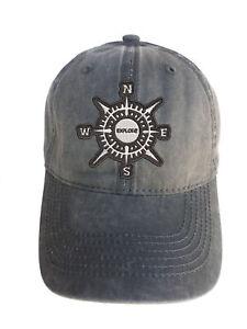 Compass-Explore-Adjustable-Curved-Bill-Strap-Back-Dad-Hat-Baseball-Cap
