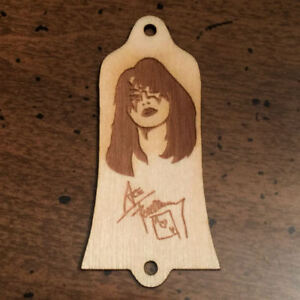 Agressif Guitar Parts-bois Brûlé Truss Rod Cover-s' Adapte Usa Gibson-ace Frehley Kiss-afficher Le Titre D'origine