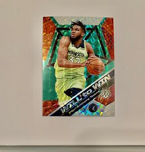 Karl-Anthony-Towns-2020-Panini-Mosaic-Will-to-Win-Green-Prizm-2-Minnesota-Sick