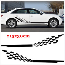 Personalized Checkered Flag Decal Custom Vinyl Graphic Car Side Skirt Sticker
