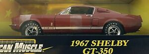 #36512B  American Muscle Red 1967 Shelby GT-350 Die Cast 1:18 Scale
