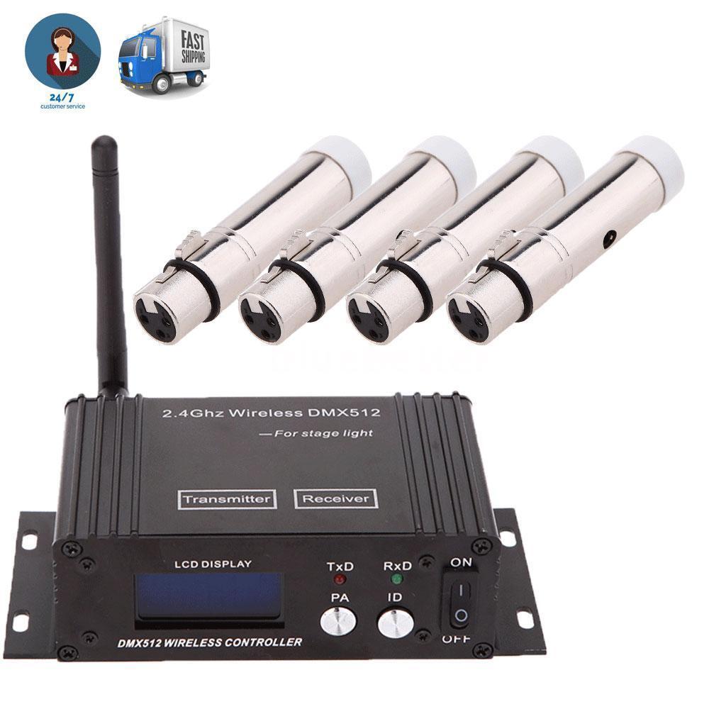2.4G Wireless DMX Transmitter LCD Display mit 4 Female Receiver J5S2