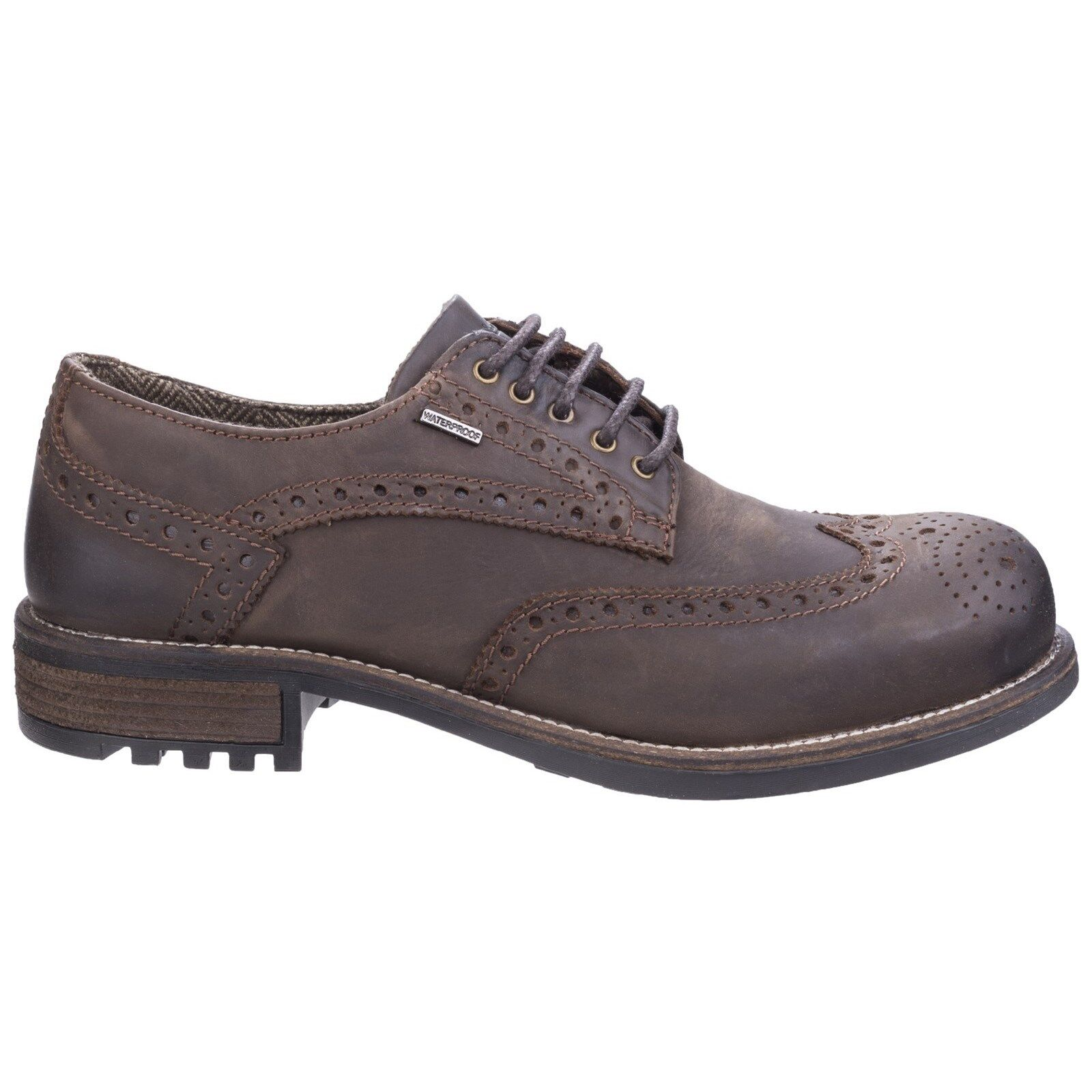 Cotswold Oxford  Uomo Lace Memory Waterproof Brogue Wing Tip Memory Lace Foam Footbed Schuhes 818b79
