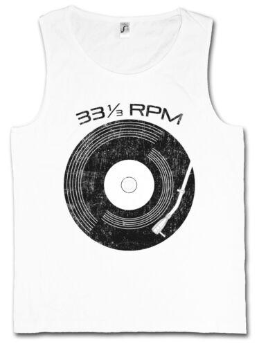 VINYL 33 RPM TANK TOP Club Retro Music Plattenspieler Phonograph turntable DJ
