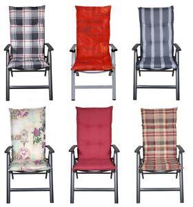 lesli luxus auflagen f r hochlehner gartenstuhl kissen sitzkissen stuhl polster ebay. Black Bedroom Furniture Sets. Home Design Ideas