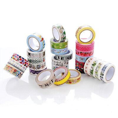 Cute Cartoon Deco DIY Sticky Adhesive Sticker Decorative Washi Tape 32 Patterns