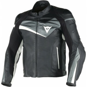 New-Dainese-Veloster-Perforated-Leather-Jacket-Men-039-s-EU-52-Black-153373086752
