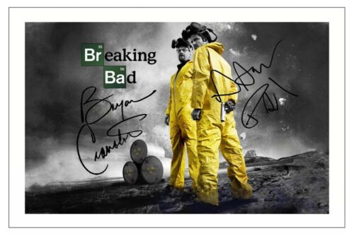 BRYAN CRANSTON /& AARON PAUL BREAKING BAD SIGNED PHOTO PRINT AUTOGRAPH