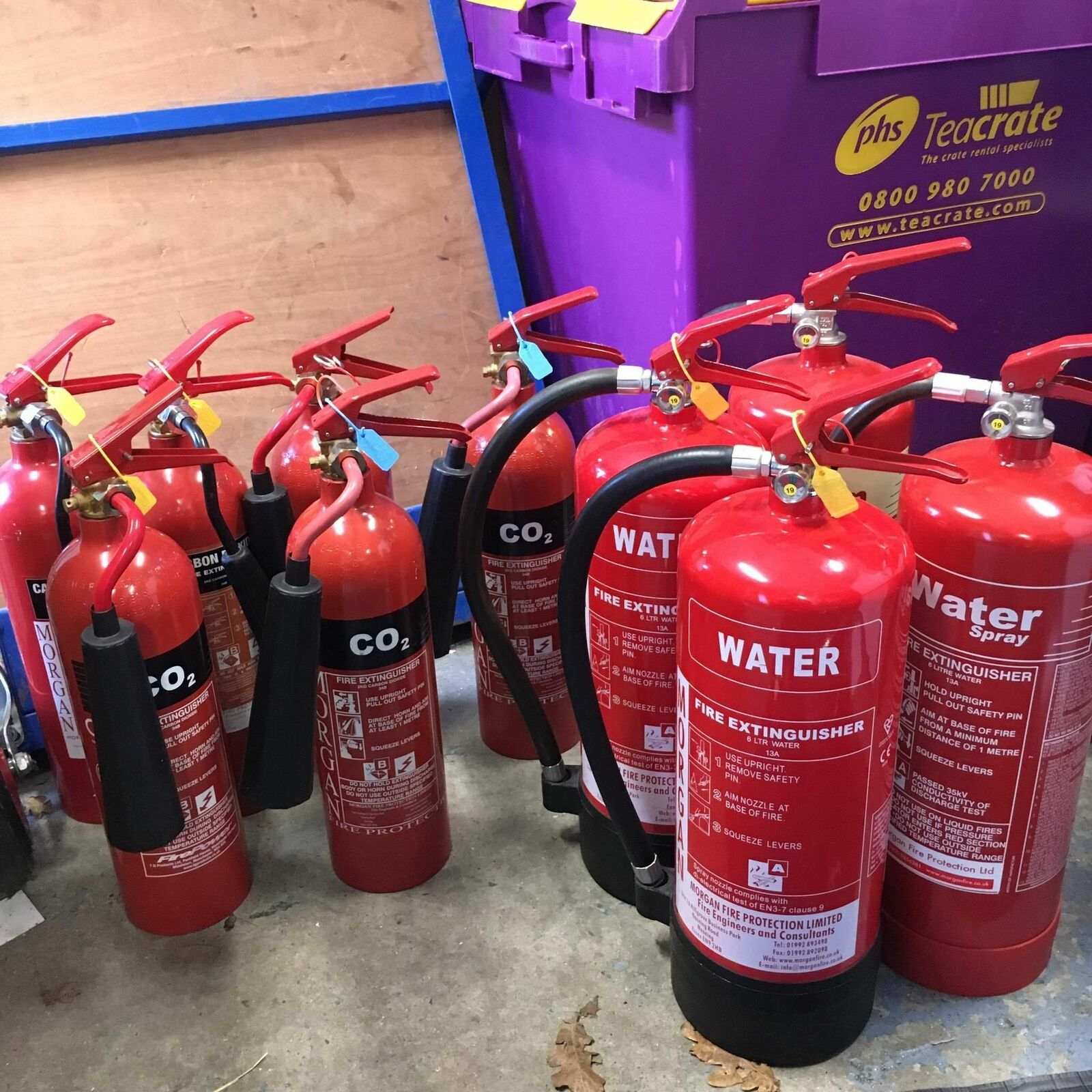 OUT OF SERVICE Fire Extinguishers WATER CO2