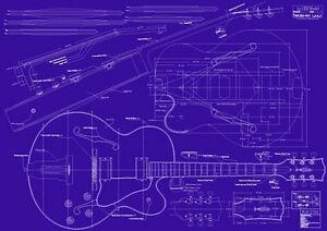 image is loading gibson-l5-ces-jazz-guitar-decorative-blueprint-a0-