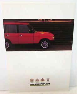 1988-Range-Rover-Dealer-Sales-Brochure-Folder-Mailer-Off-Road-4X4-Features-Specs