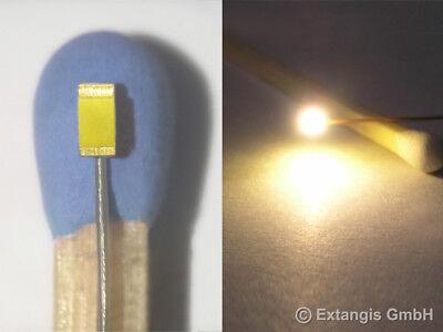 10x SMD LED 0603 SUNNY WHITE Warm Weiss + Microlitze 0,2mm warmwit micro litz