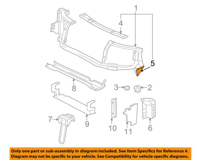 Chevrolet GM OEM Impala Radiator Core Support-Diagonal Brace Right 15892685