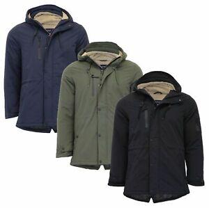 Nueva-chaqueta-para-hombre-Tokyo-Laundry-Parka-Abrigo-Con-Capucha-Sherpa-Alineado-Pesado-Cola-De-Pez