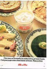 Publicité Advertising 1976 La Crème Fraiche Elle & Vire