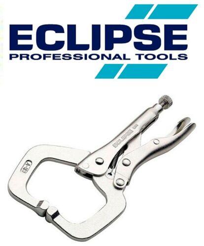 "ECLIPSE Vise Grip C Clamp 6/"" 150mm Adjustable Locking Small Regular Tip Plier E6"