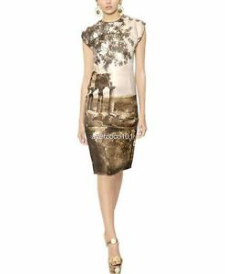 seta Dolce stampata New It38 Abito Gabbana Uk6 Authentic 8 in Rrp2750gbp qtptSwa