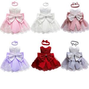 Flower-Girl-Princess-Dress-Kids-Baby-Party-Wedding-Bridesmaid-Pageant-Birthday