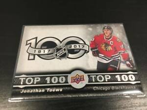 Jonathan-Toews-TOP-100-TOP-2-Upper-Deck-Tim-Hortons-2017-18