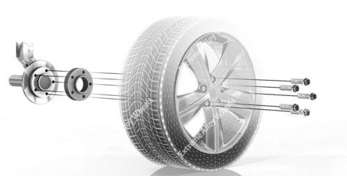 Bulloni RUOTA in lega Distanziatori 12mm Serratura VW Phaeton Scirocco SHARON Silver bimec